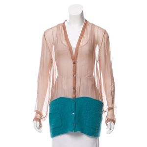 N21 silk and angora cardigan